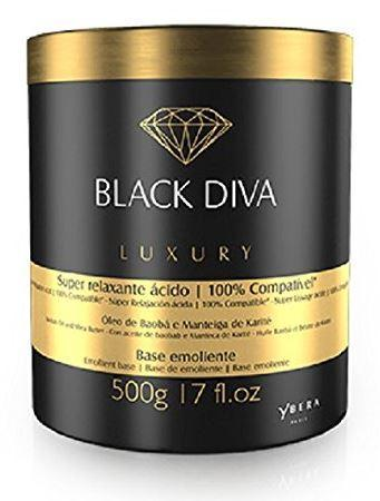 Ybera Hair Mask Super Relaxing Acid Black Diva Hair Luxury Treatment Mask 500g - Ybera Paris