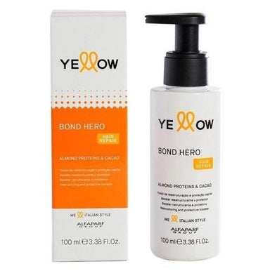 Yellow Brazilian Keratin Treatment Bond Hero Hair Repair Almond Proteins Cocoa Treatment Fluid 100ml - Yellow
