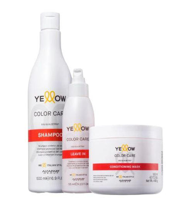 Yellow Brazilian Keratin Treatment Color Care Goji Berry Aloetrix Colored Hair Treatment Kit 3 Products - Yellow