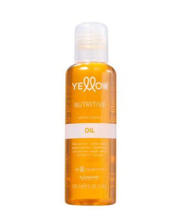 Yellow Brazilian Keratin Treatment Nutritive Coconut Argan Nourishing Treatment Finisher Oil 120ml - Yellow
