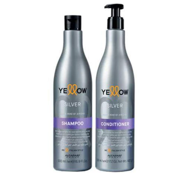 Yellow Brazilian Keratin Treatment Silver Açai Rose of Jericho Color Restore Protect Treatment Kit 2x500ml - Yellow