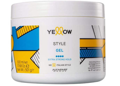 Yellow Brazilian Keratin Treatment Style Green Coffee Aloetrix Extra Strong Hold Shaper Fixing Gel 500ml - Yellow