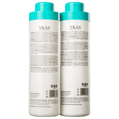 YKas Brazilian Hair Treatment Equilibrium System Kit Salon Duo (2 Products) - YKAS