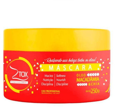 Zap Cosmetics Brazilian Hair Treatment Ztox Macadamia Oil and Chia Mask 250g - Zap
