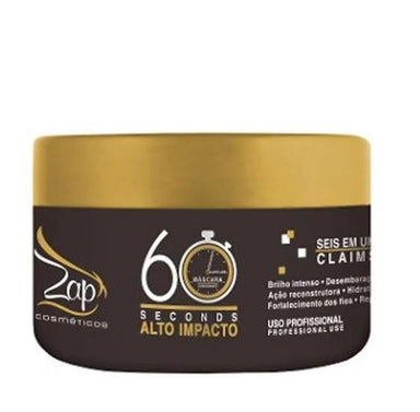 Zap Cosmetics Hair Mask Professional 60 Seconds High Impact Hair Treatment Mask 250g - Zap Cosmetics