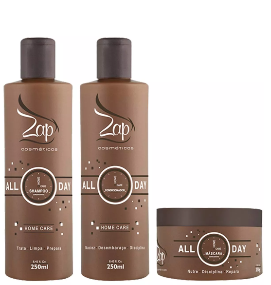 Zap Cosmetics Home Care All Day Home Care Maintenance Kit 3x 250 - Zap Cosmetics