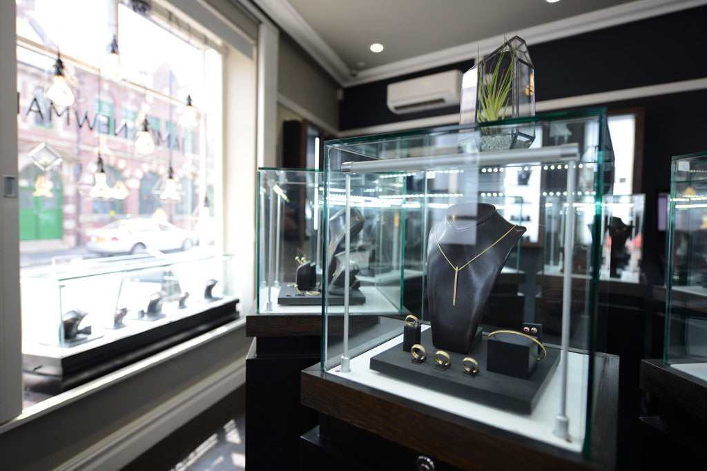 Inside shot of James Newman Jewellery Shop Birmingham
