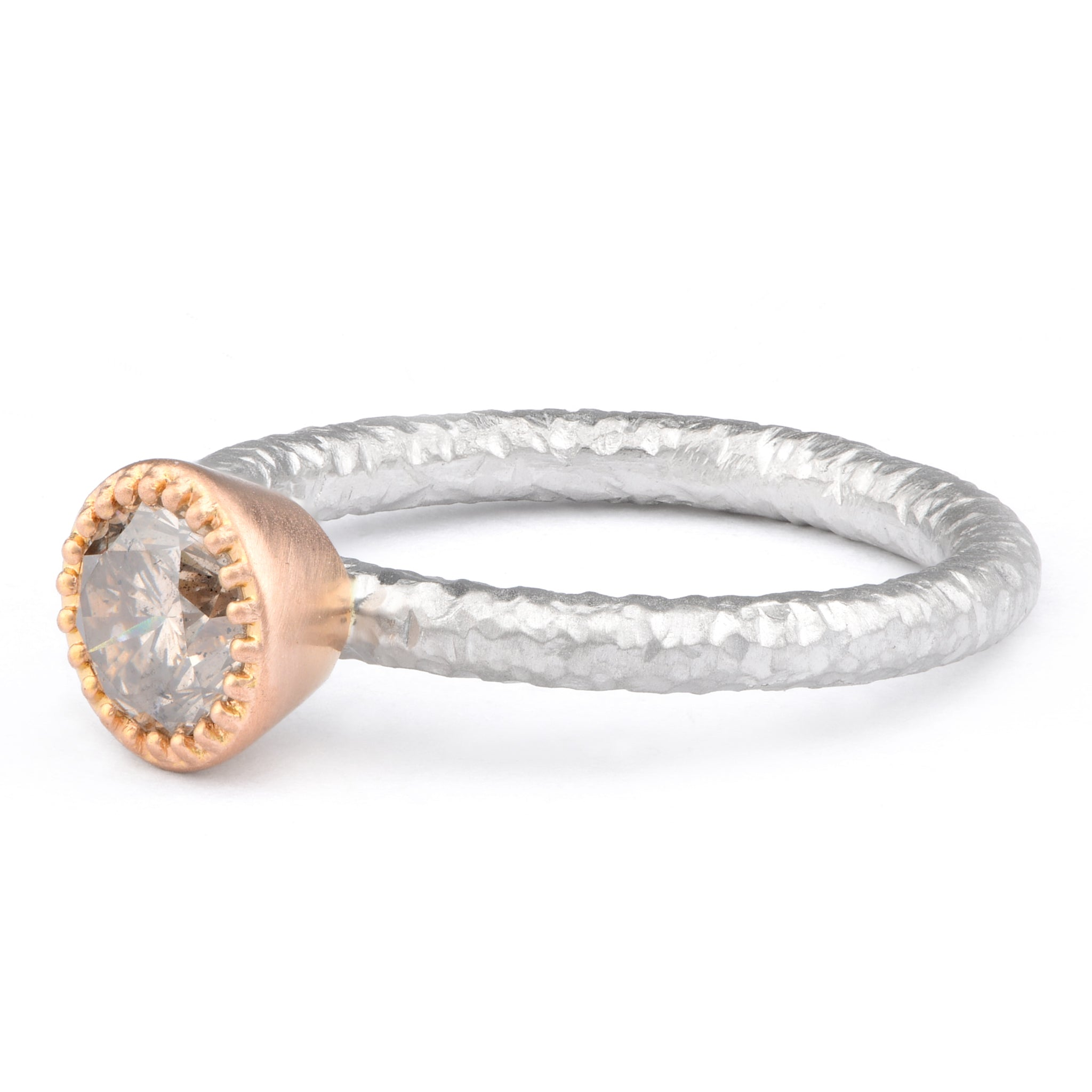 Champagne Diamond Ring - James Newman Jewellery