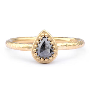 18ct Yellow Salt and Pepper Diamond Ring - James Newman Jewellery