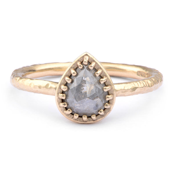 9ct Yellow Salt and Pepper Diamond Ring - James Newman Jewellery