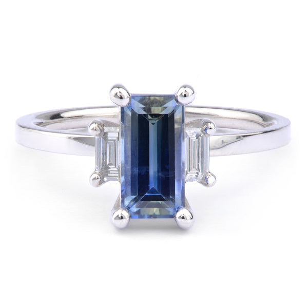 Sapphire and Diamond Ring - James Newman Jewellery