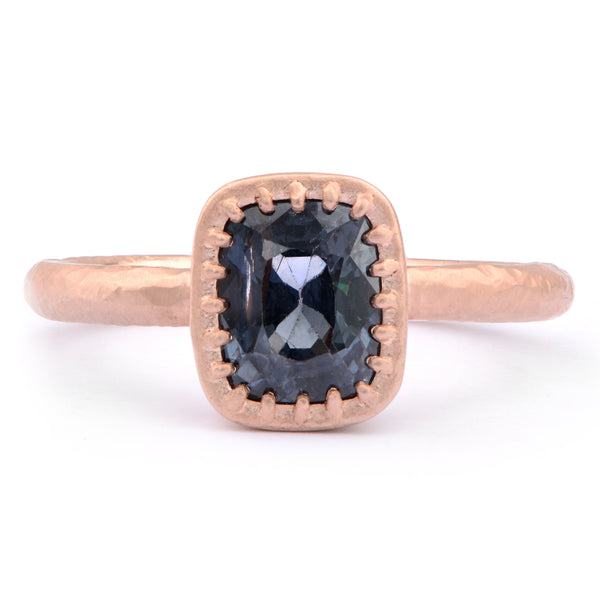 Cushion Cut Spinel and 9ct Red Gold Ring - James Newman Jewellery