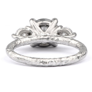 2ct Salt and Pepper Diamond and Platinum Ring - James Newman Jewellery