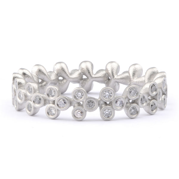 50pt Stacking Eternity Ring in Platinum - James Newman Jewellery