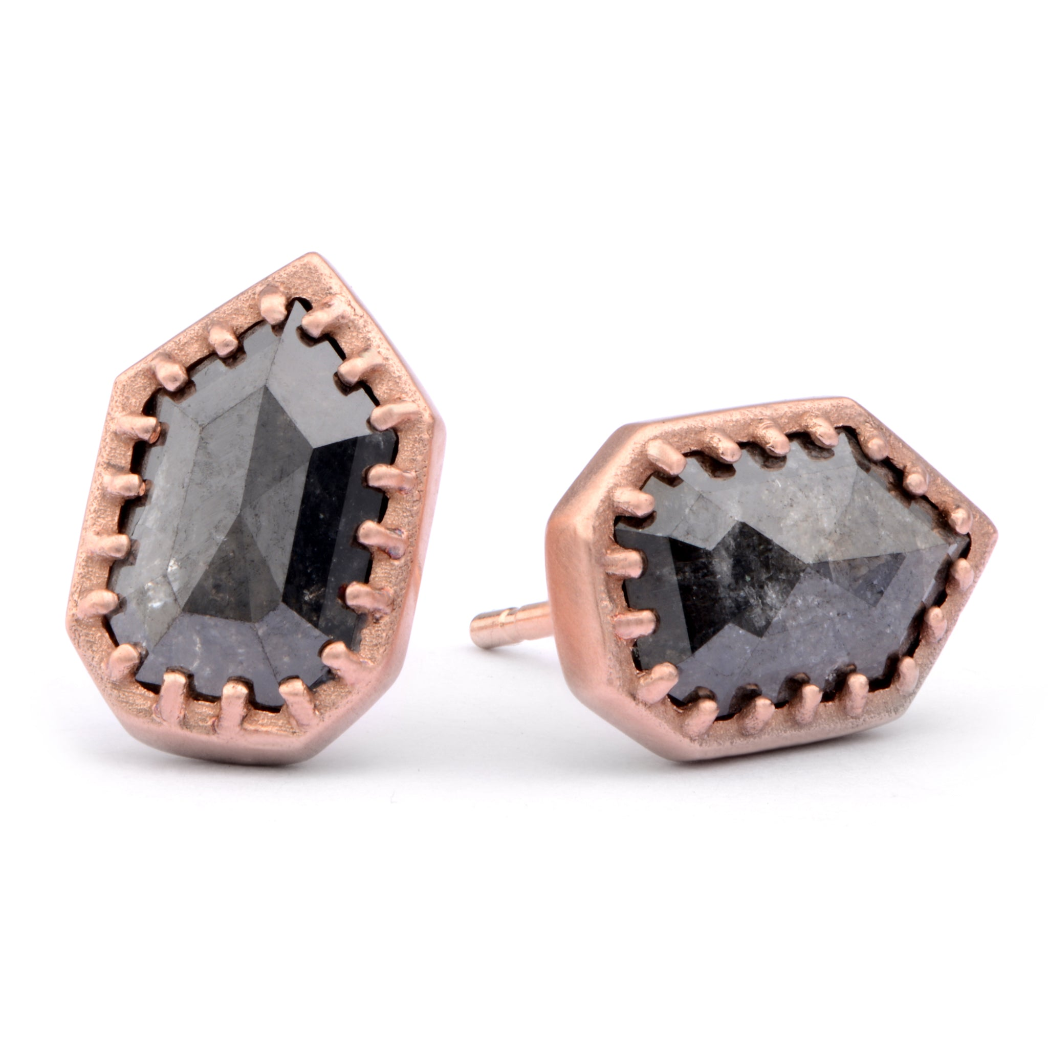 9ct Red Shield Studs - James Newman Jewellery