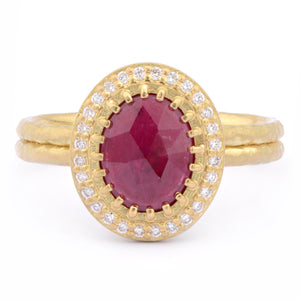 Ruby and 18ct Yellow Gold Ring - James Newman Jewellery