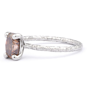 1ct Cognac Diamond and Platinum Ring - James Newman Jewellery