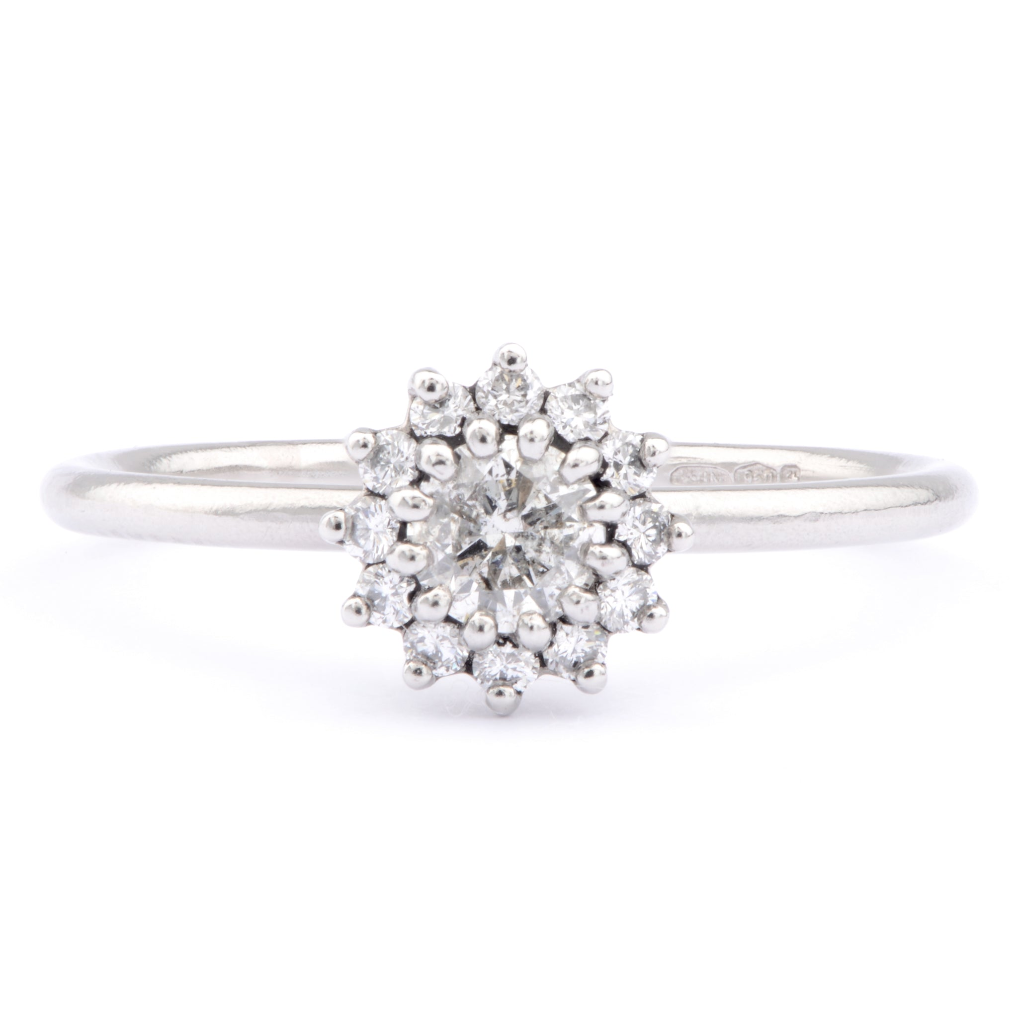 30pt Salt and Pepper Diamond and Platinum Ring - James Newman Jewellery
