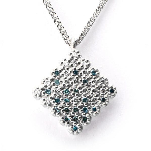 Pave Diamond Pendant - James Newman Jewellery