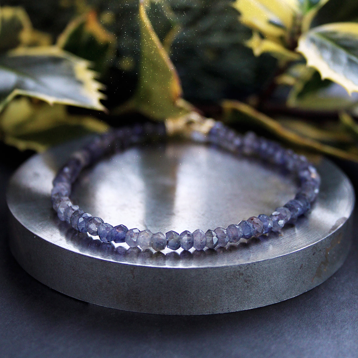 Blue Spinel & 14ct Yellow Gold Bracelet