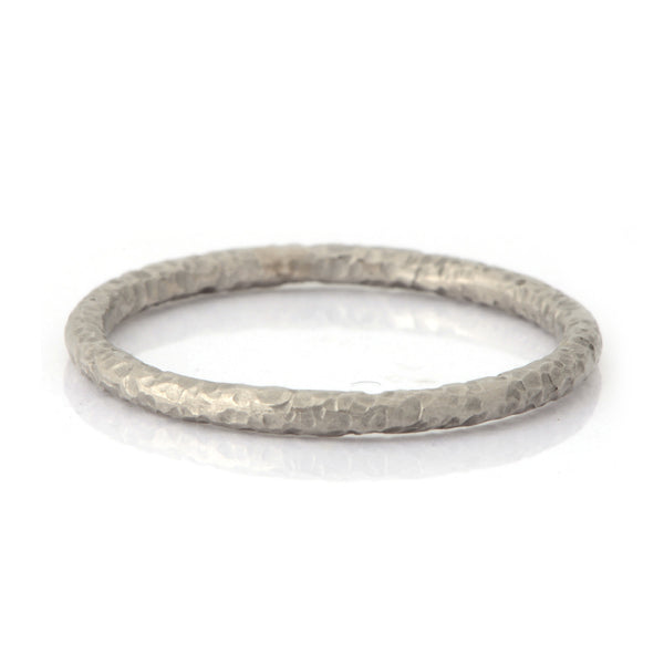 Fiori White Gold, Palladium, or Platinum 2mm Band Ring - James Newman Jewellery