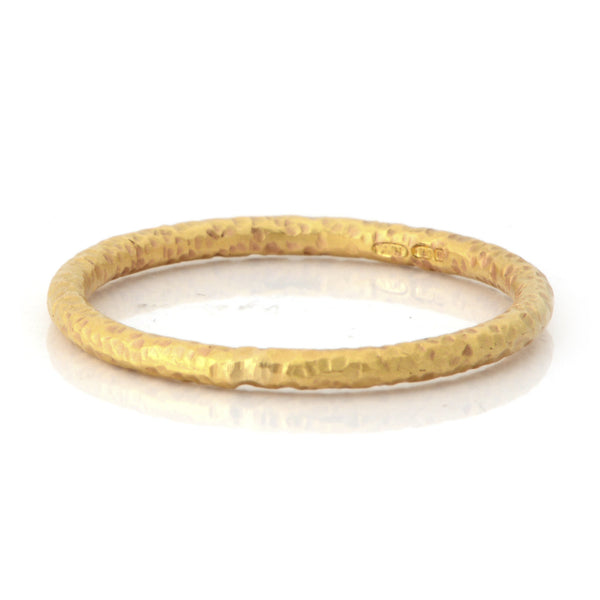 Fiori Yellow Gold 2mm Band Ring - James Newman Jewellery