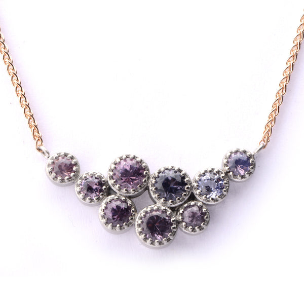 Unique Fiori Cluster Mixed Spinel Pendant - James Newman Jewellery