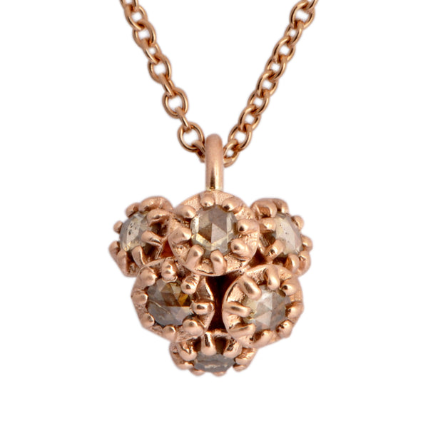Fiori Diamond Cluster Pendant - James Newman Jewellery