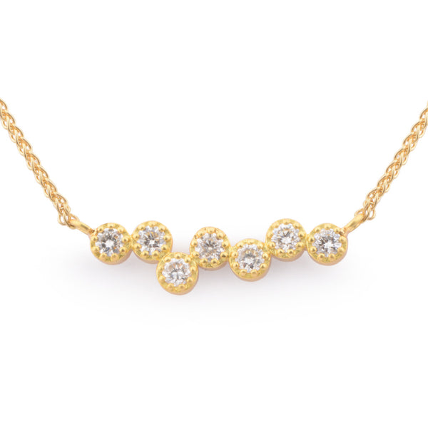 Fiori Irregular Set Diamond Pendant