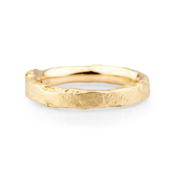 Narrow 18ct Yellow Gold Flux Ring - James Newman Jewellery