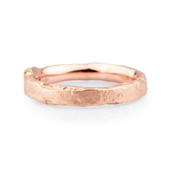 Narrow 9ct Red Gold Flux Ring - James Newman Jewellery
