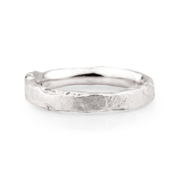 Narrow Platinum Flux Ring - James Newman Jewellery