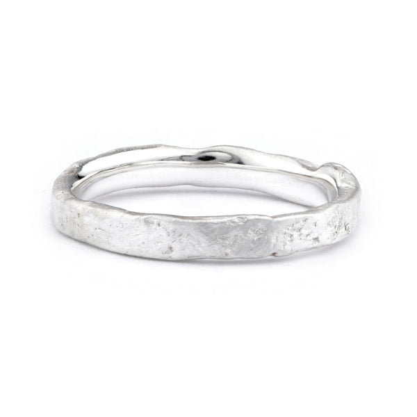 Narrow Silver Flux Ring