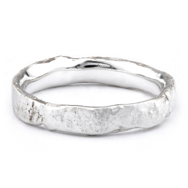 Medium Silver Flux Ring - James Newman Jewellery