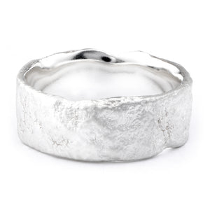 Wide Silver Flux Ring - James Newman Jewellery
