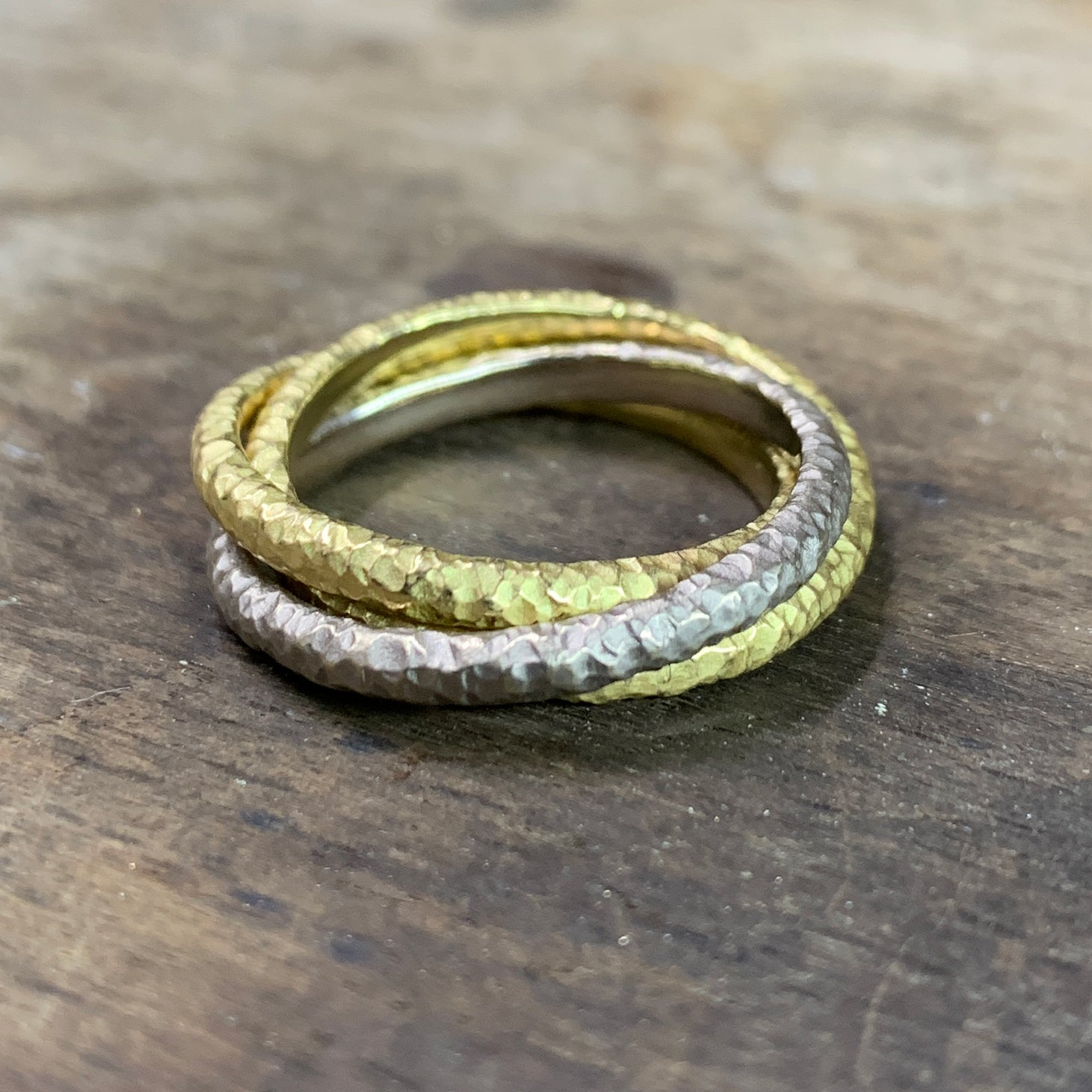 Hand forged Russian Wedding Ring - James Newman Jewellery