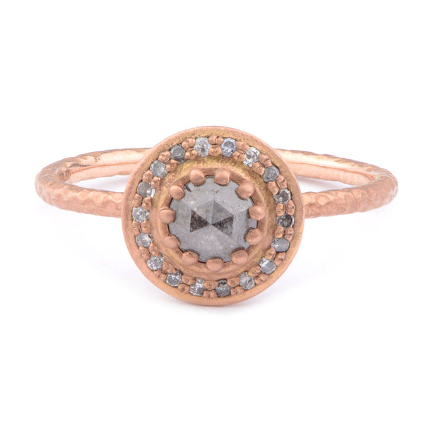 Fiori 30pt Solitaire Cluster Ring - James Newman Jewellery