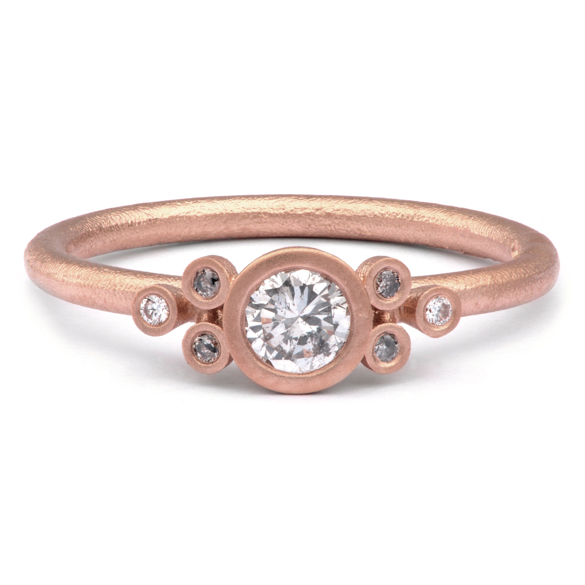 30pt Salt and Pepper Diamond Ring in 9ct Red Gold - James Newman Jewellery