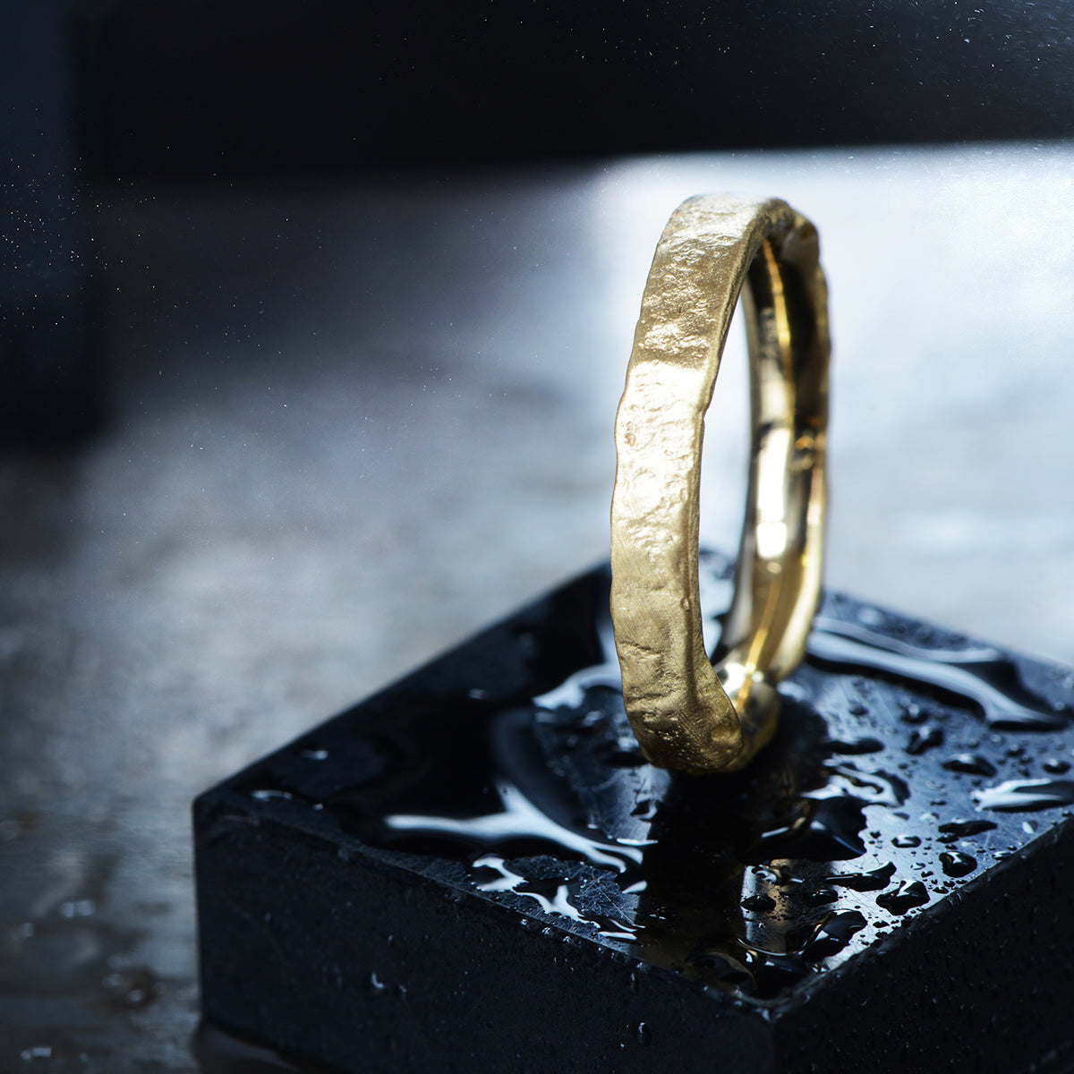 Medium Plated Gold Flux Ring