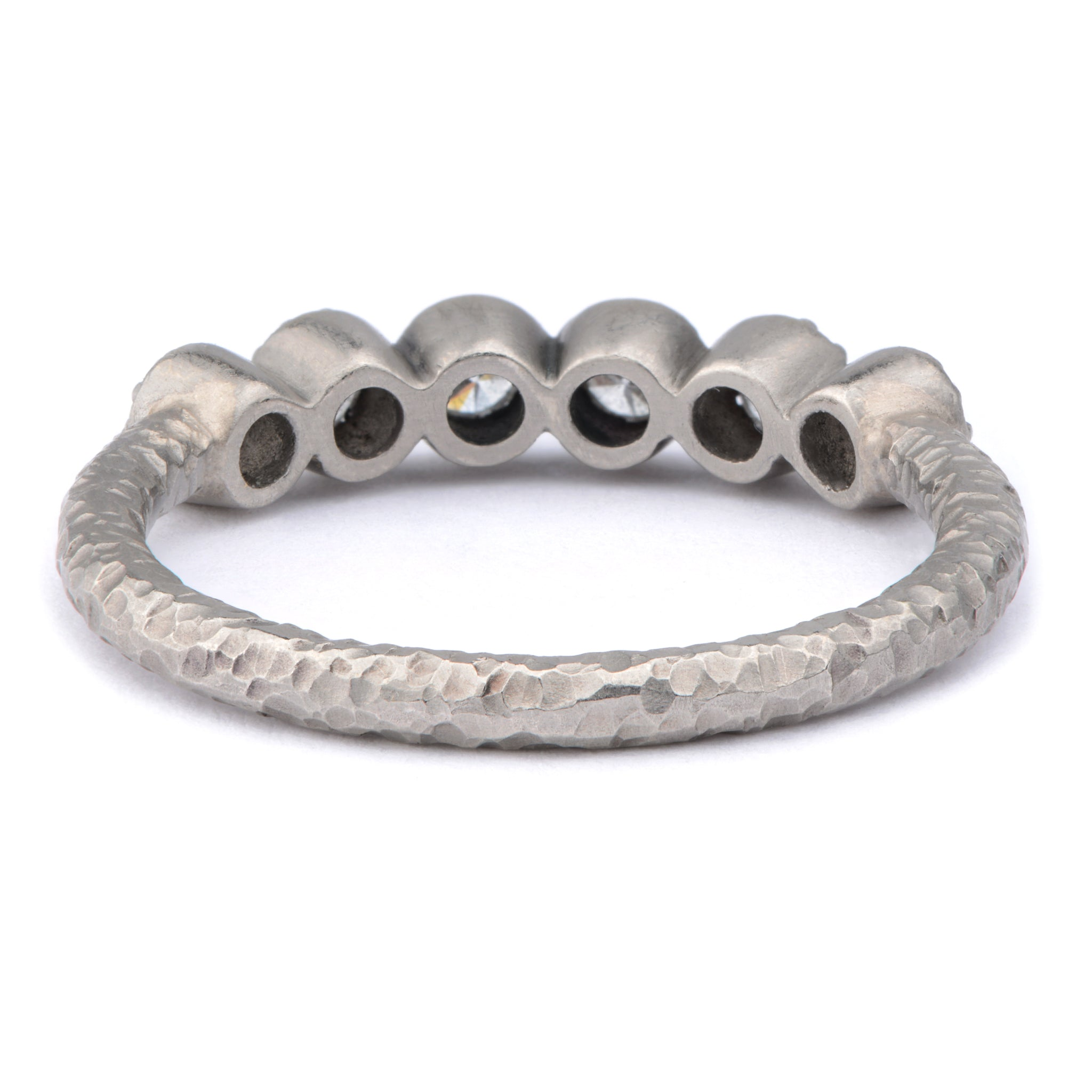 Palladium Fiori Part Eternity Ring - James Newman Jewellery