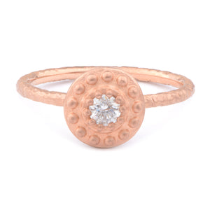 Fiori Beaded 15pt Solitarie Cluster Ring - James Newman Jewellery