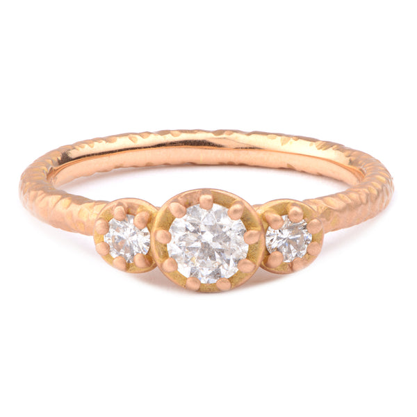 Fiori Three Stone Diamond Ring - James Newman Jewellery