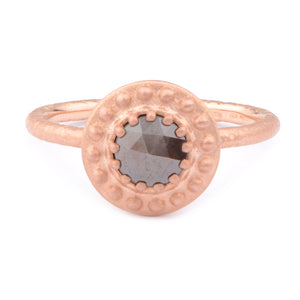 Fiori Beaded 50pt Solitarie Cluster Ring - James Newman Jewellery