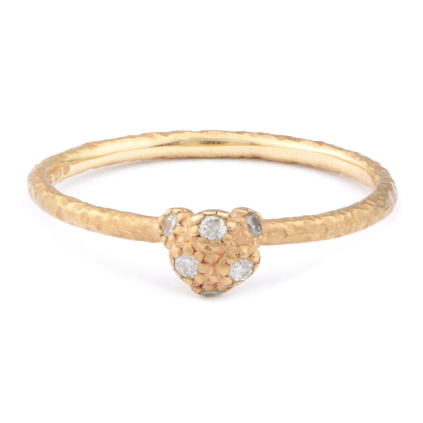 Fiori Tiny Cluster Ring Yellow Gold - James Newman Jewellery