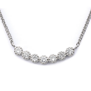 Fiori Linear Set Diamond Pendant