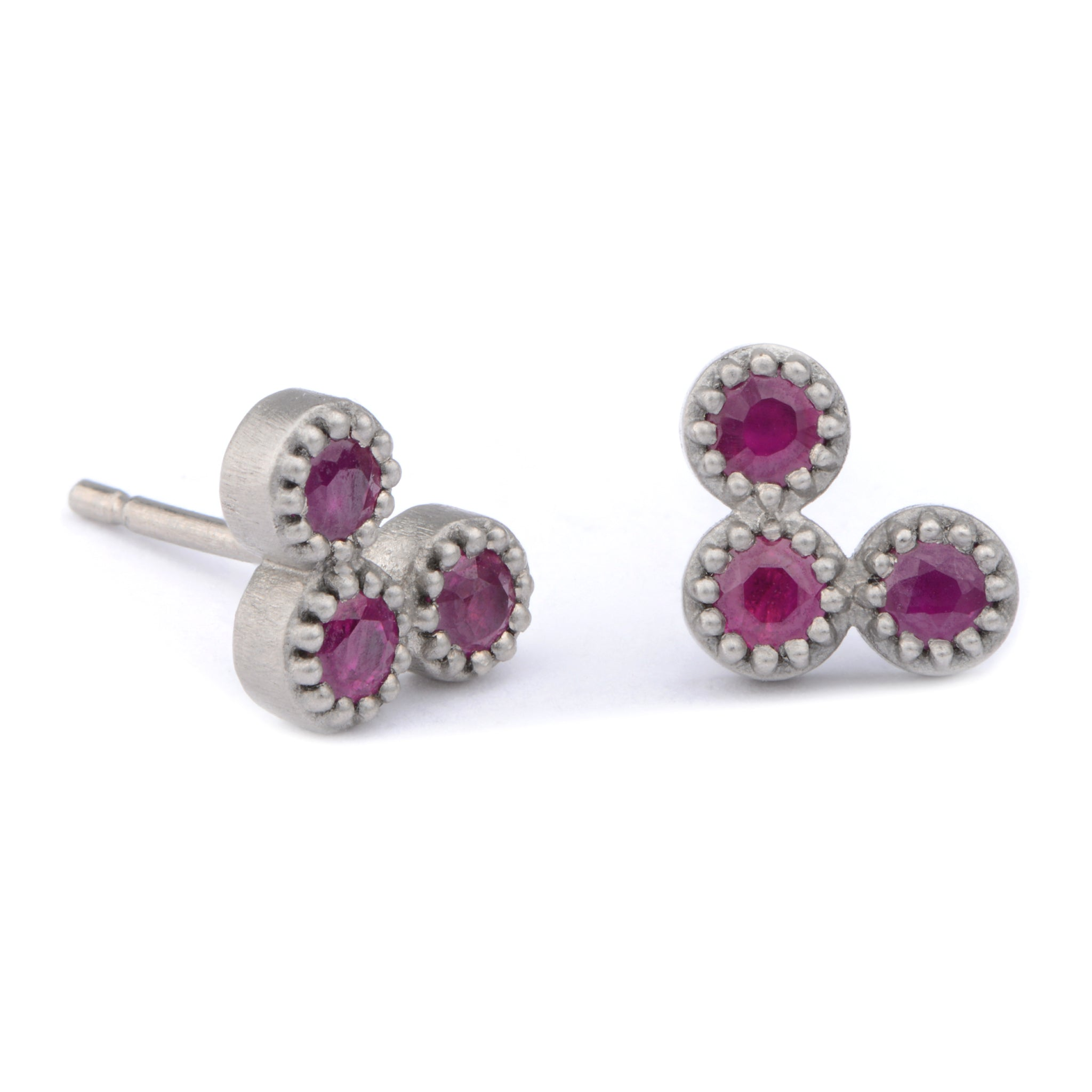 Fiori Ruby Studs - James Newman Jewellery