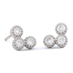 Fiori Diamond Studs - James Newman Jewellery