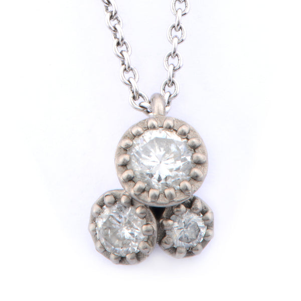 Fiori Tri-Set Diamond Pendant - James Newman Jewellery