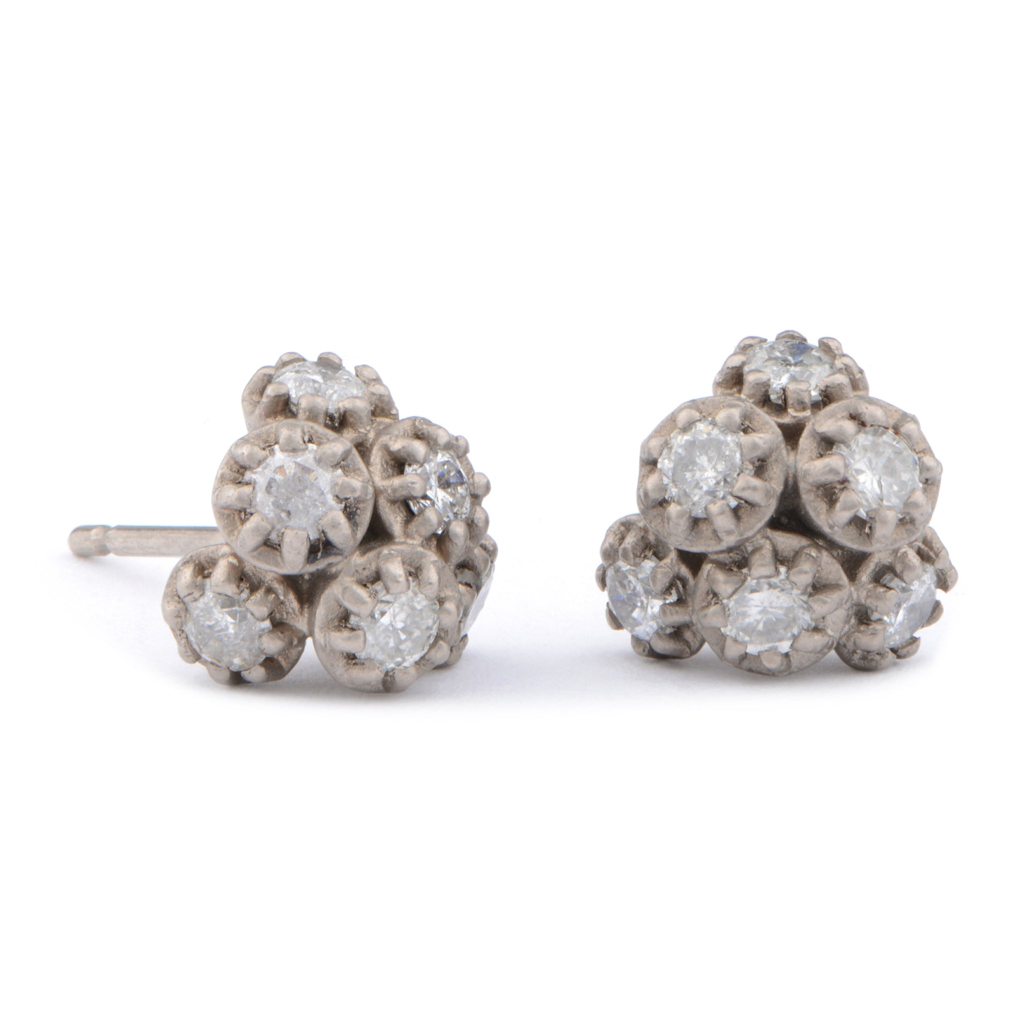 Fiori 6 Cluster Diamond Studs - James Newman Jewellery