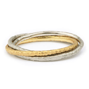 Narrow Hand Forged Russian Wedding Ring - James Newman Jewellery